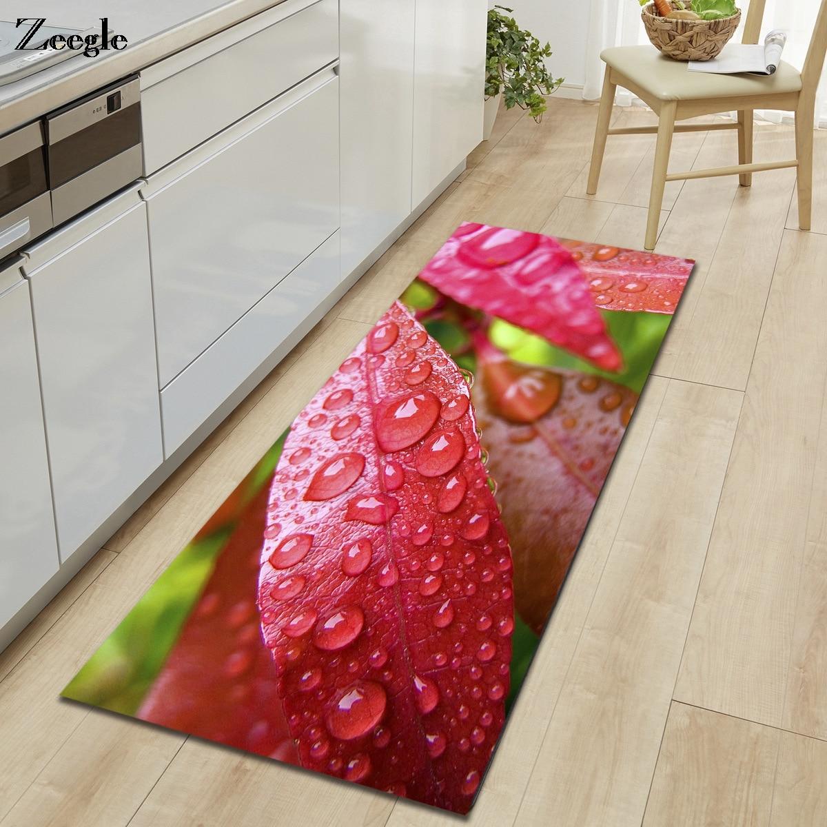 Alfombra Zeegle 3D para el suelo de la cocina, alfombra antideslizante para la sala de estar, dormitorio, Alfombra de cabecera, alfombrilla para el pie del baño, alfombra para la puerta del hogar