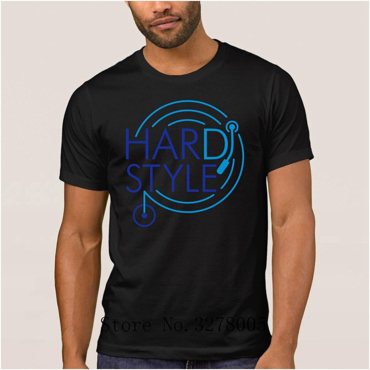 Трикотажные буквы новая мужская футболка Hardstyle Dj Уникальная футболка мужская летняя стильная 100% хлопковая одежда мужская футболка наивысш...