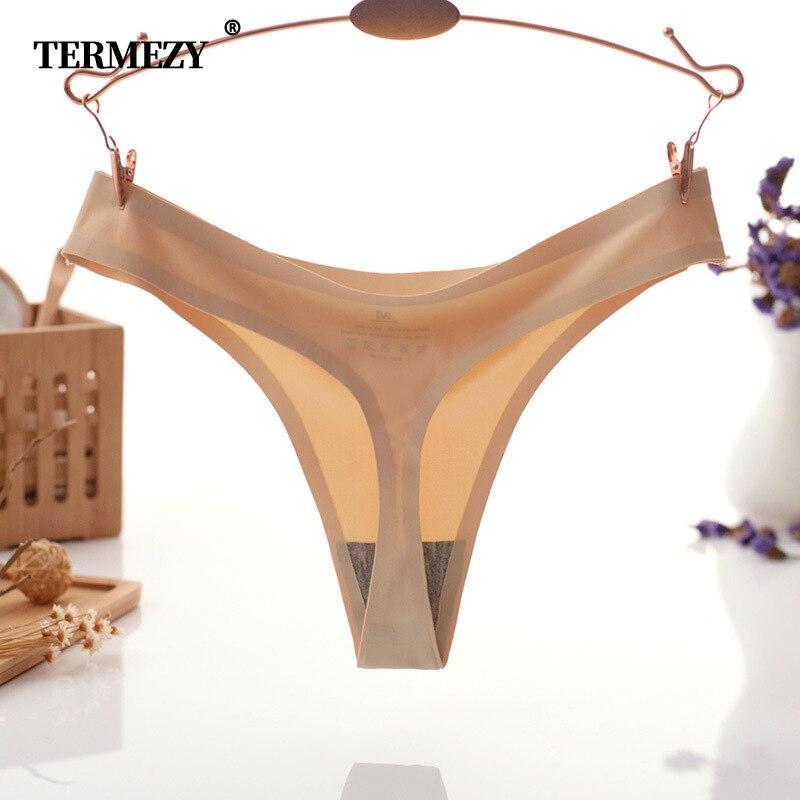 TERMEZY 3 unids/pack Sexy mujeres G strings & tangas briefs sexy mujer ropa interior bragas sin costura lencería femenina ropa interior Tanga