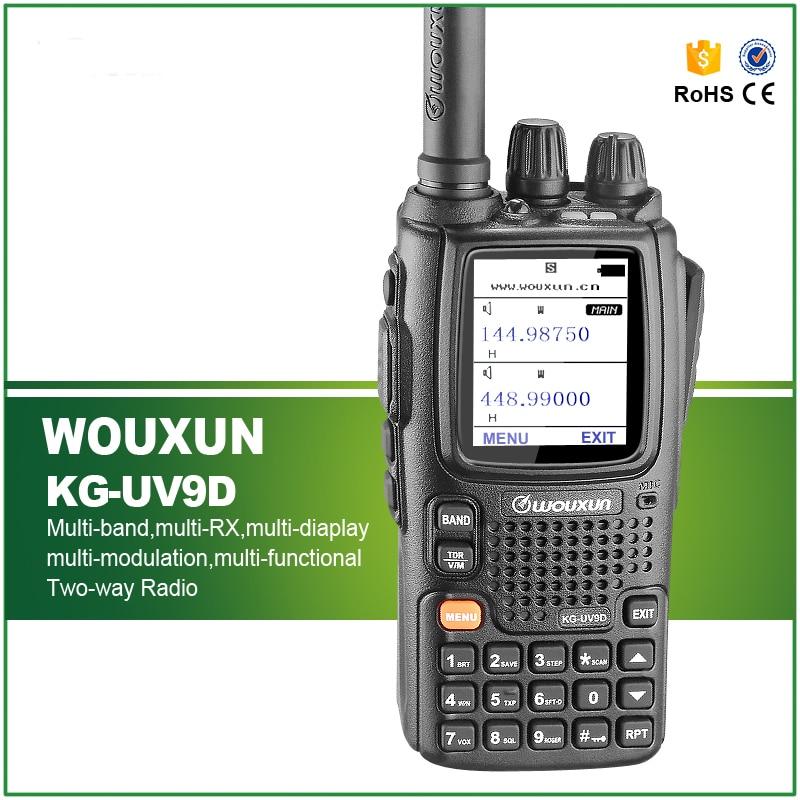 Original Wouxun KG-UV9D Walkie Talkie Dual Band Dual Display 136-174/400-512MHz Air Band Receive 999CH 5W Two Way Radio