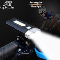 Two Lights LED Bicycle Front Lights Bike Handlebar MTB Biking Cycling Light Set USB Rechargeable Headlight Lamps COB Highlight