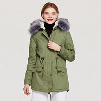 winter new large lur collar hooded lambskin long womens cotton coat large size casual slim long sleeves