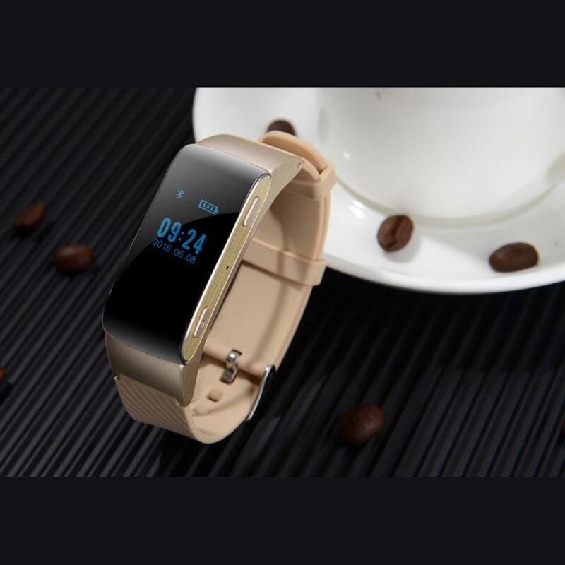 Pulsera inteligente DF22 PK xiaomi mi Band 2, Auriculares Bluetooth con control táctil y Contador de pasos de lujo para Android e IOS