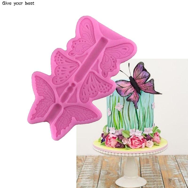El más nuevo de fondant, silicona, pastel Decoración de Pastel herramientas para hornear de silicona, moldes de pastel de caramelo de arcilla de Fimo molde Chocolate