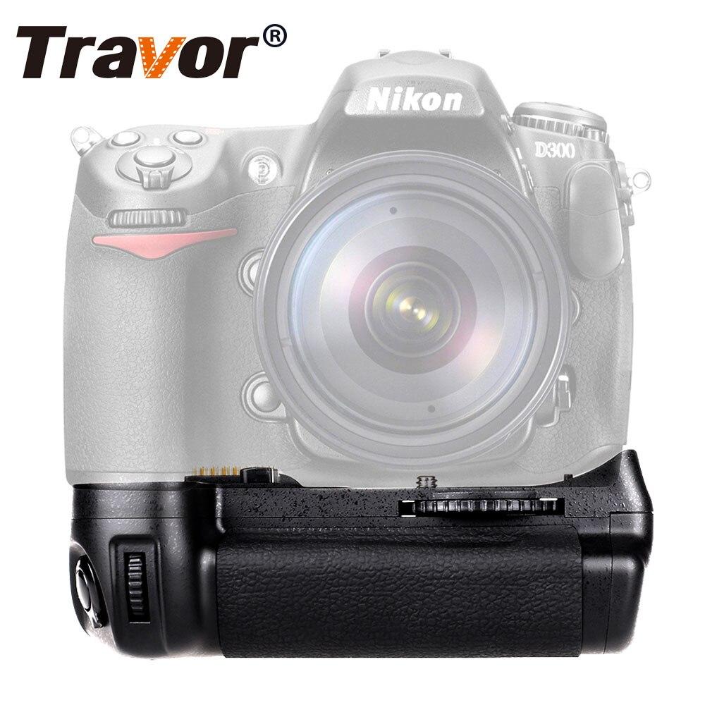 Soporte vertical de batería Travor para cámara Nikon D300 D300S D700 DSLR ya que MB-D10 funciona con batería de EN-EL3e