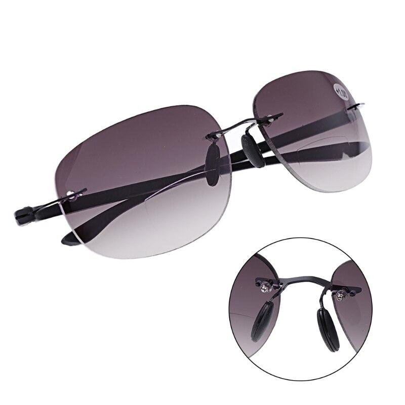 Gafas de sol al aire libre sin montura Bifocal gafas de lectura gafas de sol hombres y mujeres + 1,0 a + 3,5