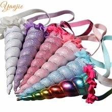 New Arrival Rainbow Headband 2020 Metallic Cosplay Festival Girl Horse Horn Birthday Party Hair Accessories For Kids Headwear