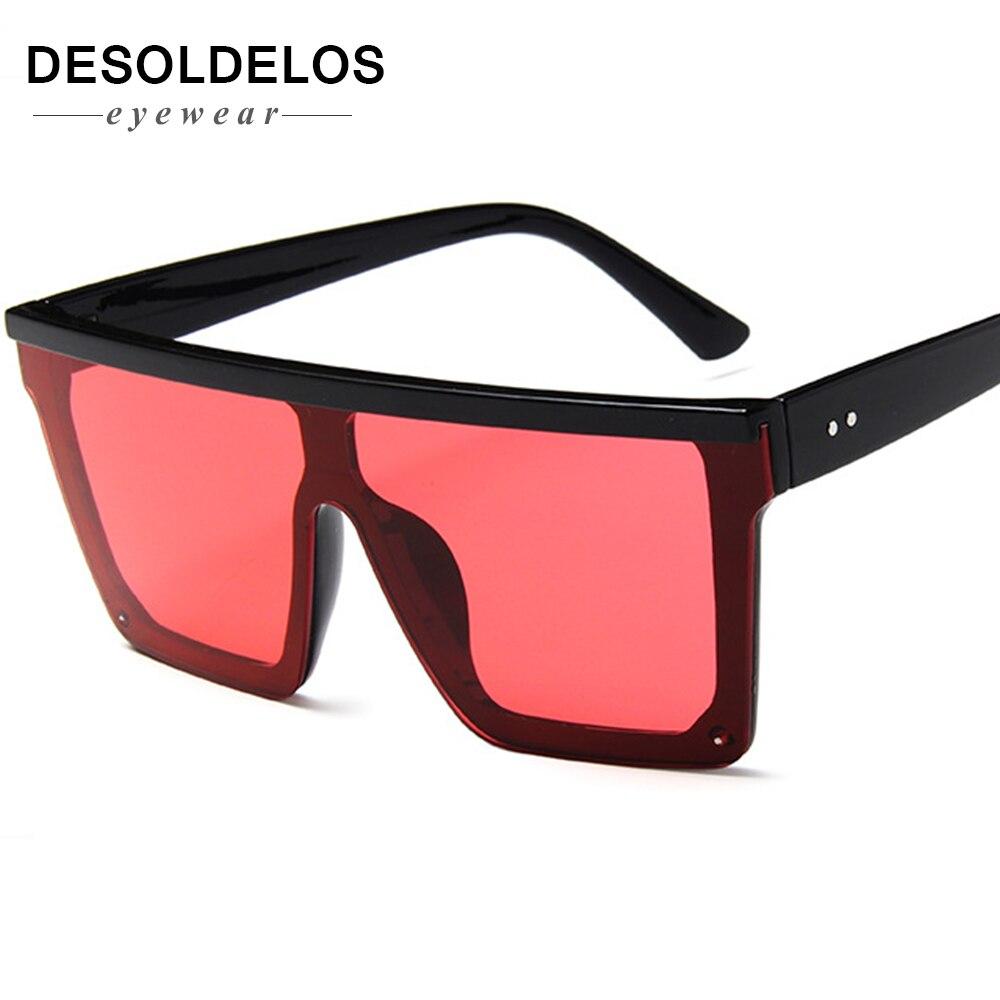 Fashion Color Women Sunglasses Unique Oversize Shield UV400 Gradient Vintage eyeglasses frame for women 2019