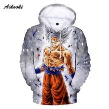 Aikooki 3D Dragon Ball Hoodies Sweatshirt Men Hoodies 3D Printing SonGoku Cap Hooded Winter Polluvers Women Hoody Fashion Tops