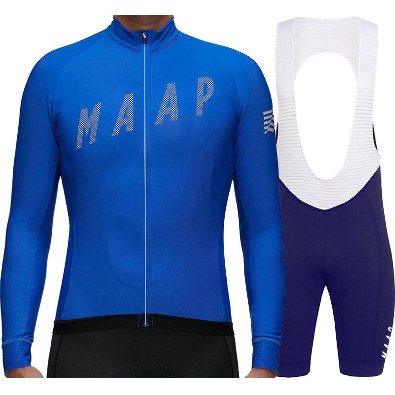 Maillot de Manga larga para ciclismo profesional para hombre, Conjunto de jersey...