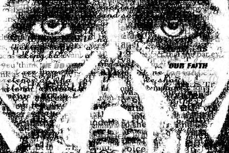 Wohnzimmer home wanddekoration stoff poster christian metalcore hardcore religion emo screamo poster typografie dark maske