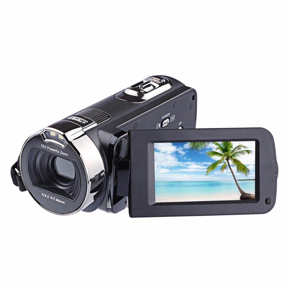 JRGK HDV 312P 2,7 pulgadas 24.0MP cámara Digital 1080P 16x Zoom DV cámara de vídeo rotar pantalla cámara fotográfica filmadora