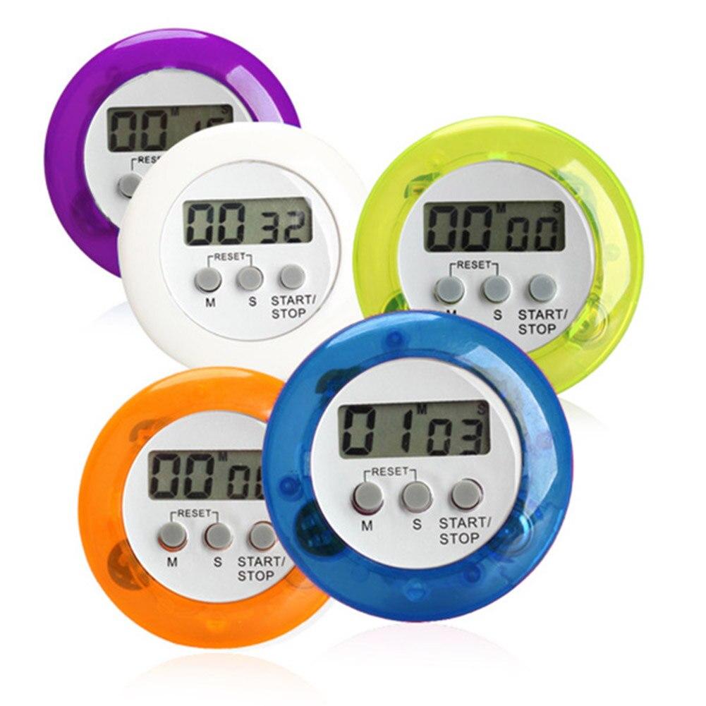Magnético novedoso LCD Digital cocina alarma temporizador de Cuenta regresiva redondo con soporte trasero temporizadores de cocina de alta calidad LXY9