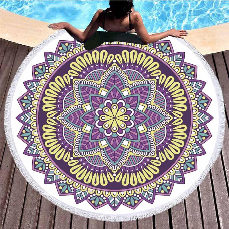 Toalla De Playa De Mandala Bohemia para adultos, toallas De Playa redondas De microfibra, esterilla De Yoga para Picnic, Toalla De Playa, manta De Playa