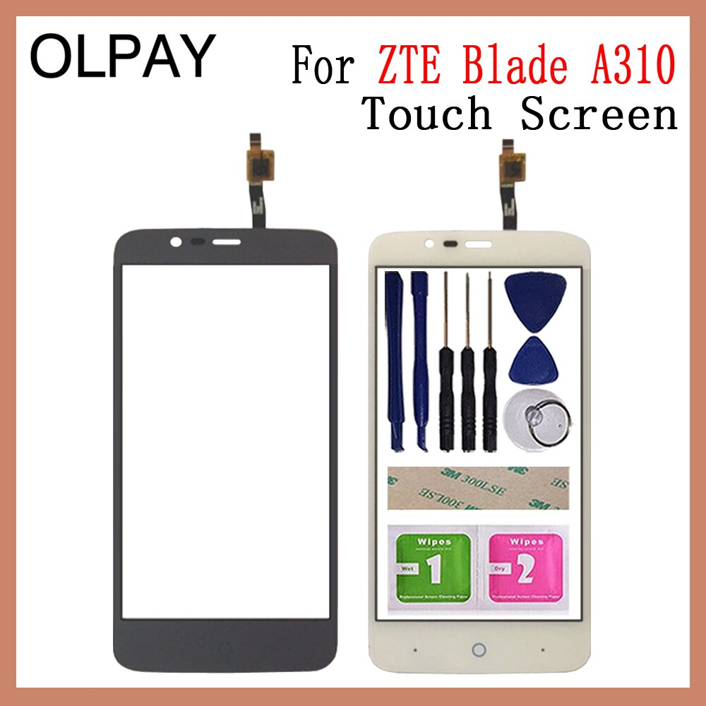 5.0'' Mobile Phone For ZTE Blade A310 Touch Screen Glass Digitizer Panel Lens Sensor Tools Free Adhe