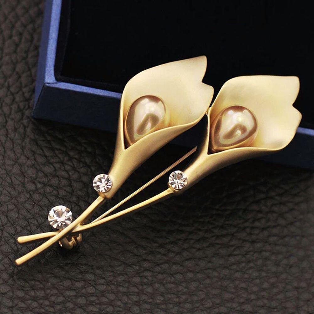 2019, diamantes de imitación de cristal, bonita forma de tulipán, accesorios de moda para ropa, broches, broche para vestido de fiesta, joyería de regalo