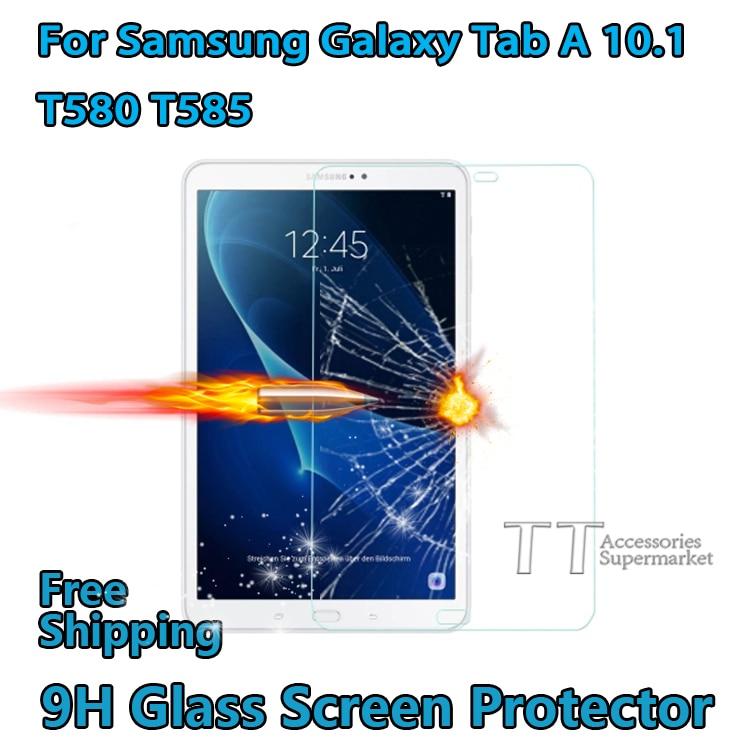 Закаленное стекло протектор экрана для Samsung Galaxy Tab A 10,1 T580 T585 tablet, T580N T585 защита экрана, бесплатная доставка