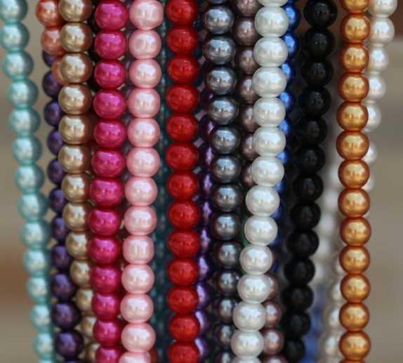 OMH al por mayor envío gratis 4mm 6mm 8mm 10mm 12mm 14mm 16mm 50 Uds blanco negro de vidrio redondo espaciador perlas muchos colores para elegir