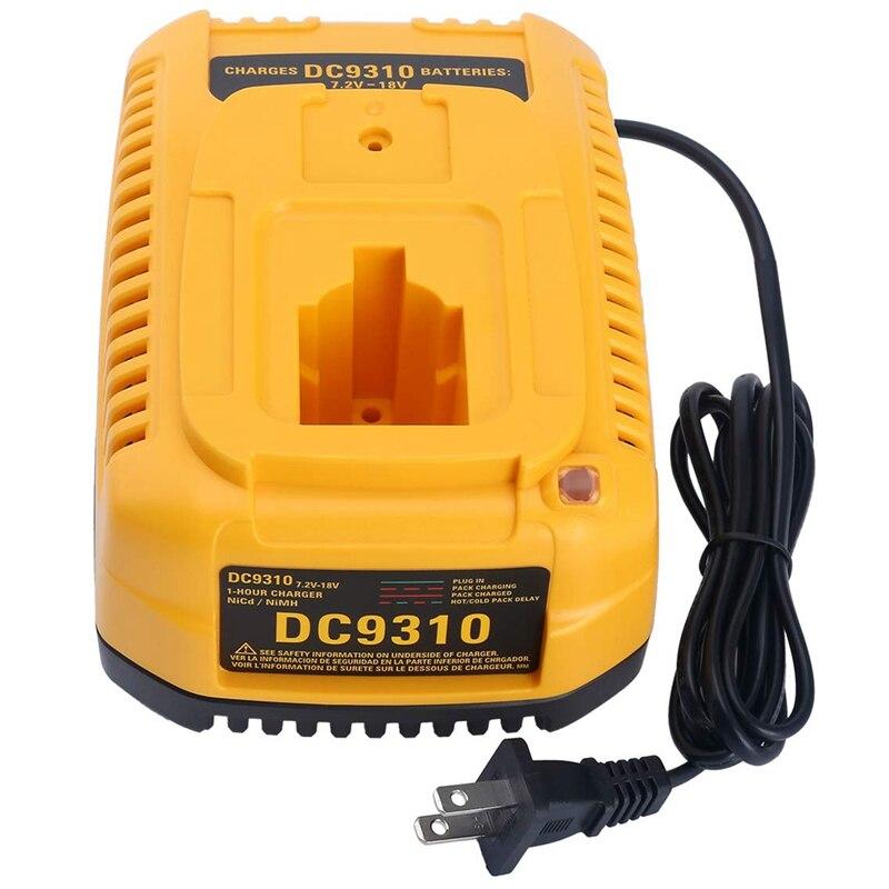 GYTB Dc9310 Cargador rápido para Dewalt 7,2 V-18V Xrp ni-cd Ni-Mh batería Dc9096 Dc9098 Dc9099 Dc9091 Dc9071 De9057 Dw9096 Dw9094 D