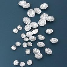 50 Stuks 14 Mm 18 Mm Acryl Knoppen 2 Gaten Imitatie Kristal Diamant Knop Kleding Accessoires Schoenen Jas Shirt Spinning diy