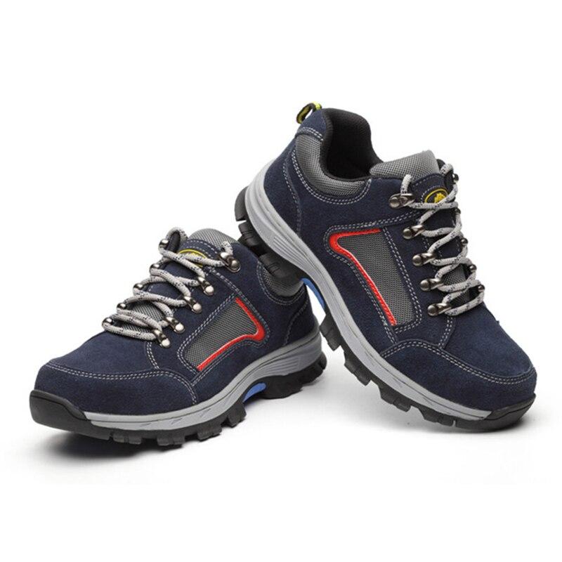 Sapatas de segurança indestrutíveis dos homens do trabalho do tampão do dedo do pé de aço masculino sapatos de segurança de construção industrial leve sapatos de inverno dos homens botas