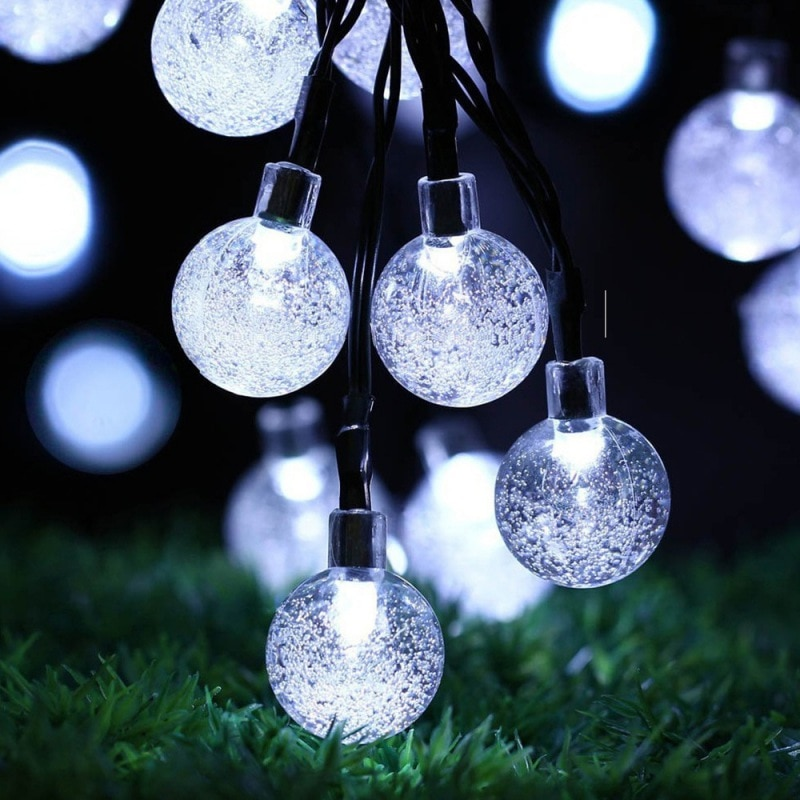 2 modos de iluminación a prueba de agua para decoración de bodas y fiestas wd02 divertido 21.3FT 30 globos de burbujas guirnaldas de luces LED Solar