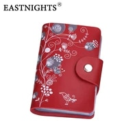 eastnights 2020 card holder leather business card holder women leather wallet credit card holder book id card case