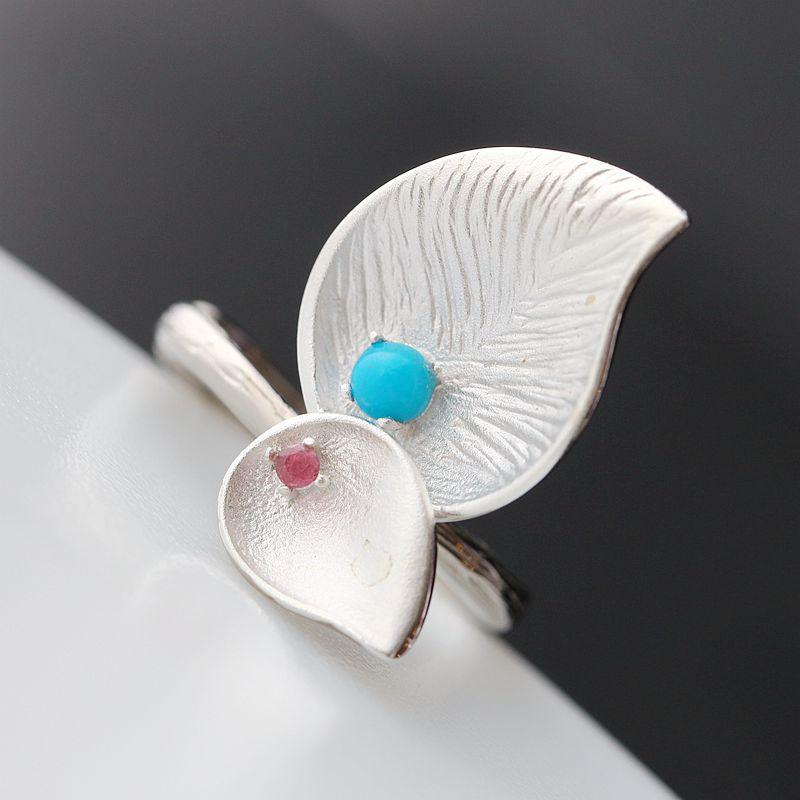 new fashion jewelry  pavilion silver set natural tourmaline pearls  natural stone  silver female fashion   silver ring