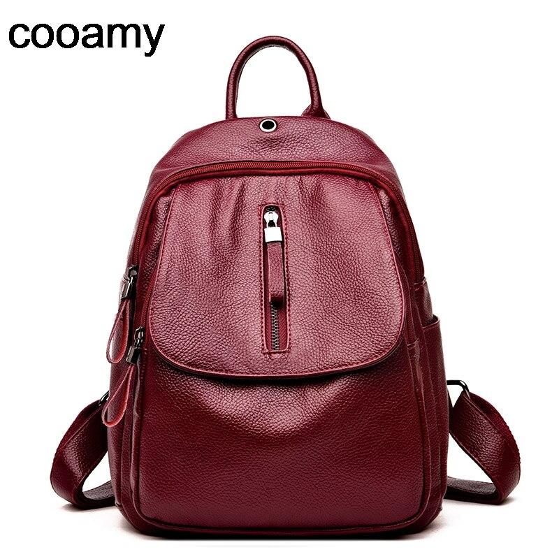 Женский рюкзак mochila feminina, повседневный многофункциональный кожаный рюкзак, школьная сумка на плечо, рюкзак для путешествий