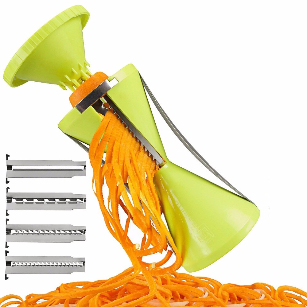 Spiralizer vegetal ralador espiral cortador spiralizer para cenoura pepino abobrinha ferramentas de cozinha gadget