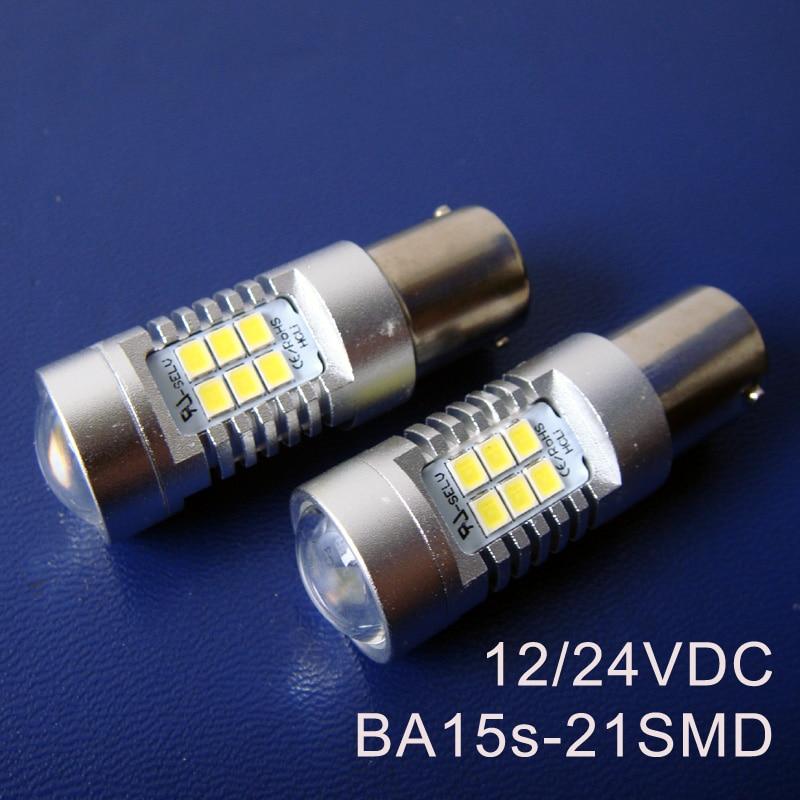 Alta calidad 12/24VAC/DC BA15s BAU15s PY21W P21W 1141 1156 camión vagón carga led luces de bombilla de señal envío gratis 50 unids/lote
