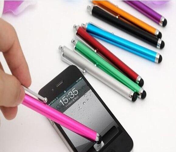 Bolígrafo capacitivo Universal de aluminio para pantalla táctil para Samsung, Android, iPhone, iPad, Tablet MID, teléfono móvil con paquete al por menor