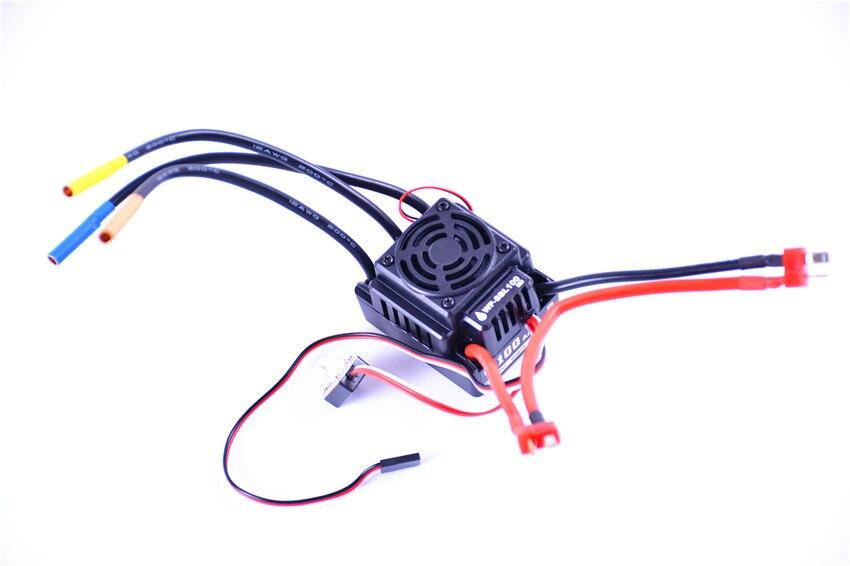 WP-8BL100 étanche 100A Brushless ESC pour 3-4 S LiPo batterie fit 3650 3660 moteur