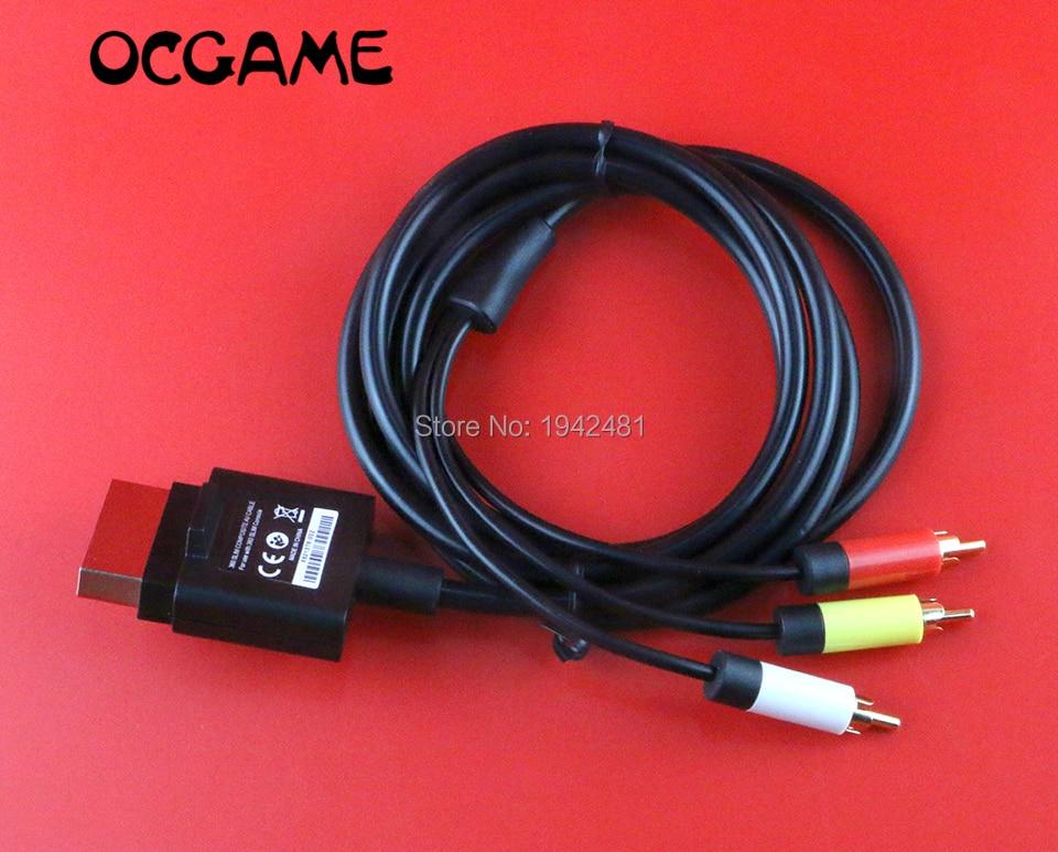 OCGAME-Cable de vídeo negro de 1,8 M/6 pies, componente de Cable compuesto...