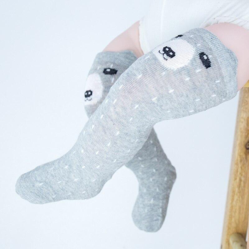 Otoño bebé calcetines para recién nacidos hasta la rodilla calcetín largo niñas calentadores de pierna para neonatos infantiles oso zorro Calcetines