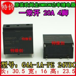 Free shipping new original relay 10pcs/lot G4A-1A-PE-24VDC G4A-1A-PE-24V  G4A-1A-PE  24VDC  20A 250VAC 4PIN