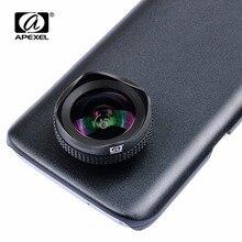 APEXEL PRO 16mm 4K grand angle circulaire polarisant CPL filtre grand objectif téléphone portable kit dobjectif de caméra pour samsung galaxy s7/s7 edge