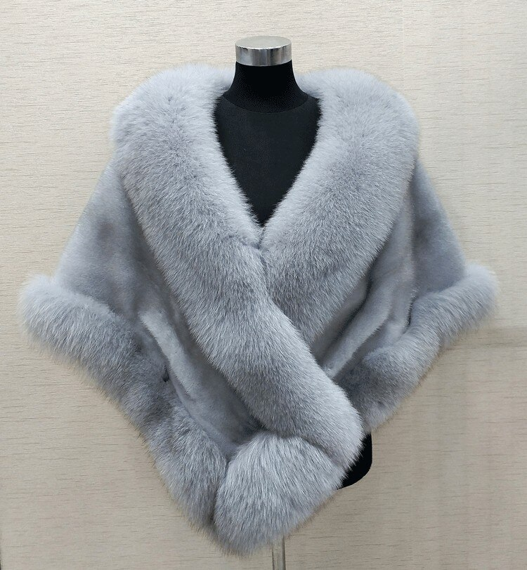 8 farben Grau/blau/weiß/schwarz faux fur wrap braut wrap faux fell achselzucken faux pelzstola schal umhang
