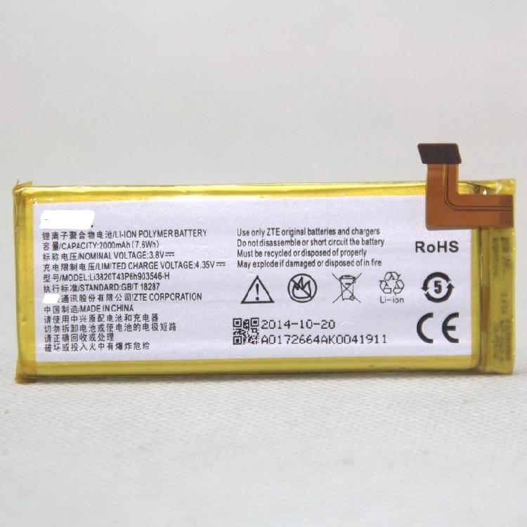 3.8V 2100mAh Li3820T43P6h903546 For ZTE Q505T Q802C Q802D N9130 Vital SPEED Battery