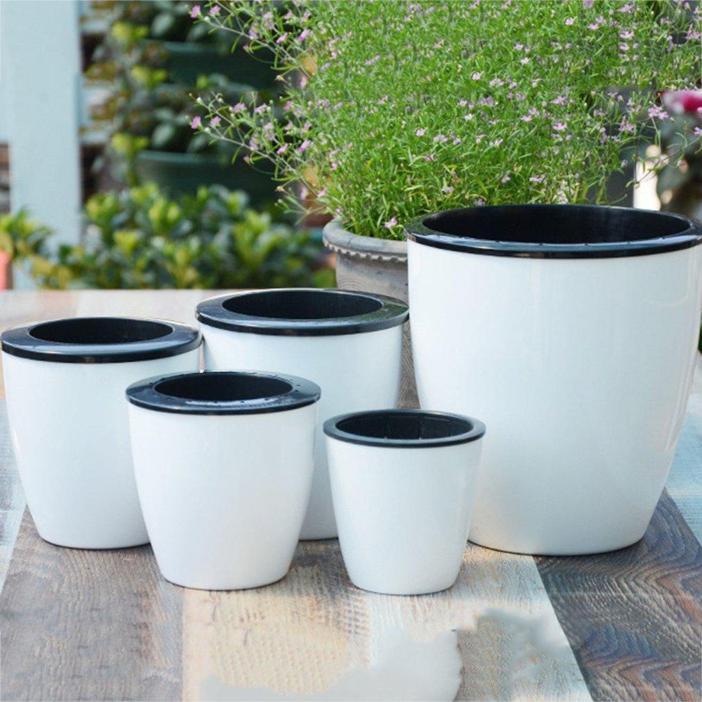 Maceta de plantas automática creativa para flor de autorriego, riego de suelo para jardín interior, decoración del hogar, jardinería