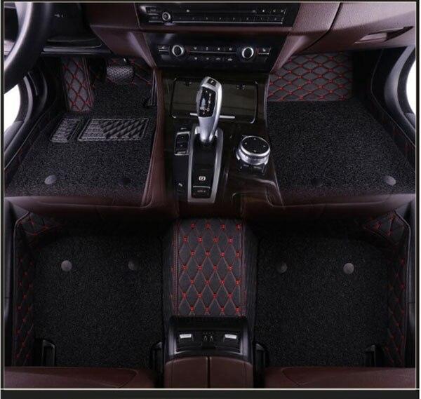 Alfombrillas para coche a medida para Toyota Land Cruiser 100 200 Prado 150 120 Fortuner Camry Corolla Rav4, alfombras para coche con estilo