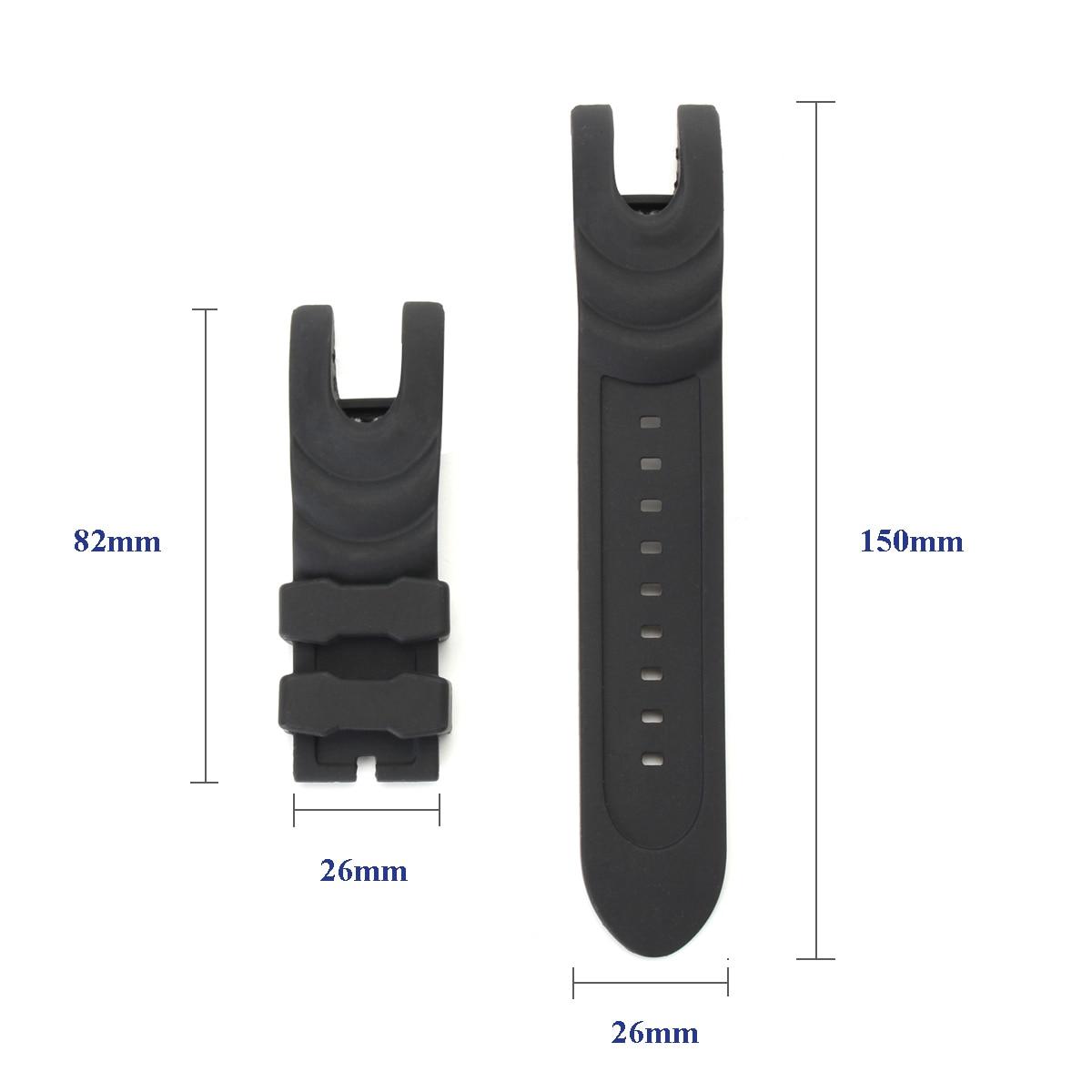 Nuevo reloj de pulsera de goma negra, correa de 26mm de repuesto para la colección Invicta Reserve Venom, correa duradera de dos piezas