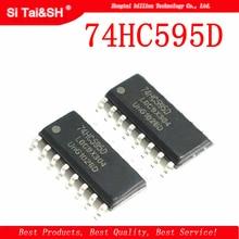 Nouveau et original IC 8-bit – enregistreur de série, 20 pièces, 74HC595D SOP16, 74HC595 SOP SN74HC595DR SMD