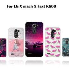 3D luxe TPU étui pour LG X mach X Fast K600 5.5 pouces souple silicone couverture arrière coque de téléphone stéréo Relief motif couverture 3D coquilles