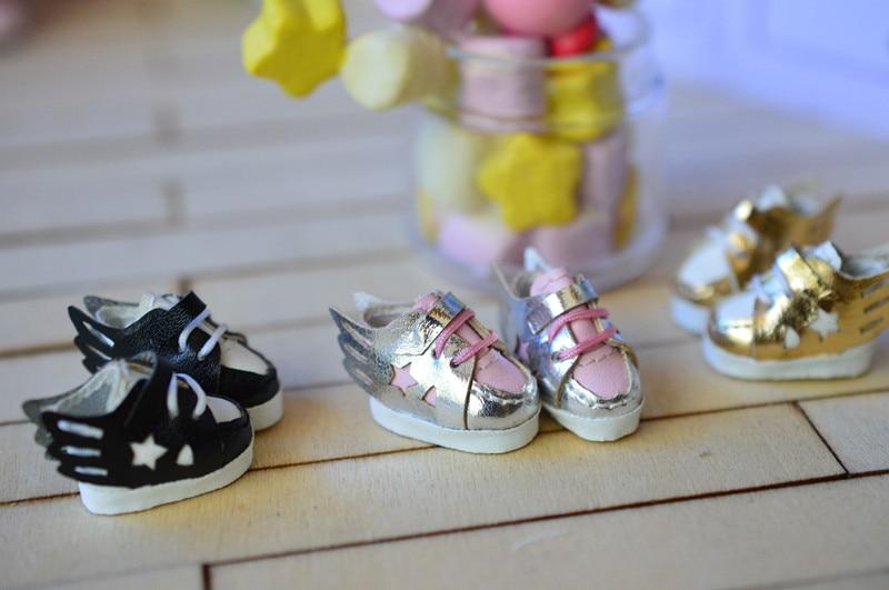 Obitsu11 OB11 muñeca zapatos Estrella zapatos con alas adecuado para OB11 cu-poche 1/12 accesorios de muñeca BJD zapatos de muñeca