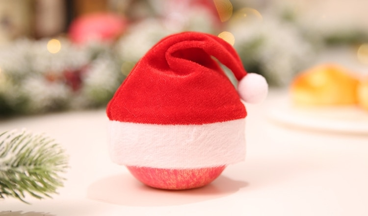 Sacs de bonbons multifonctions pour chapeau de noël   Mini chapeau de noël, décoration de Table pour dîner, décoration de maison de noël
