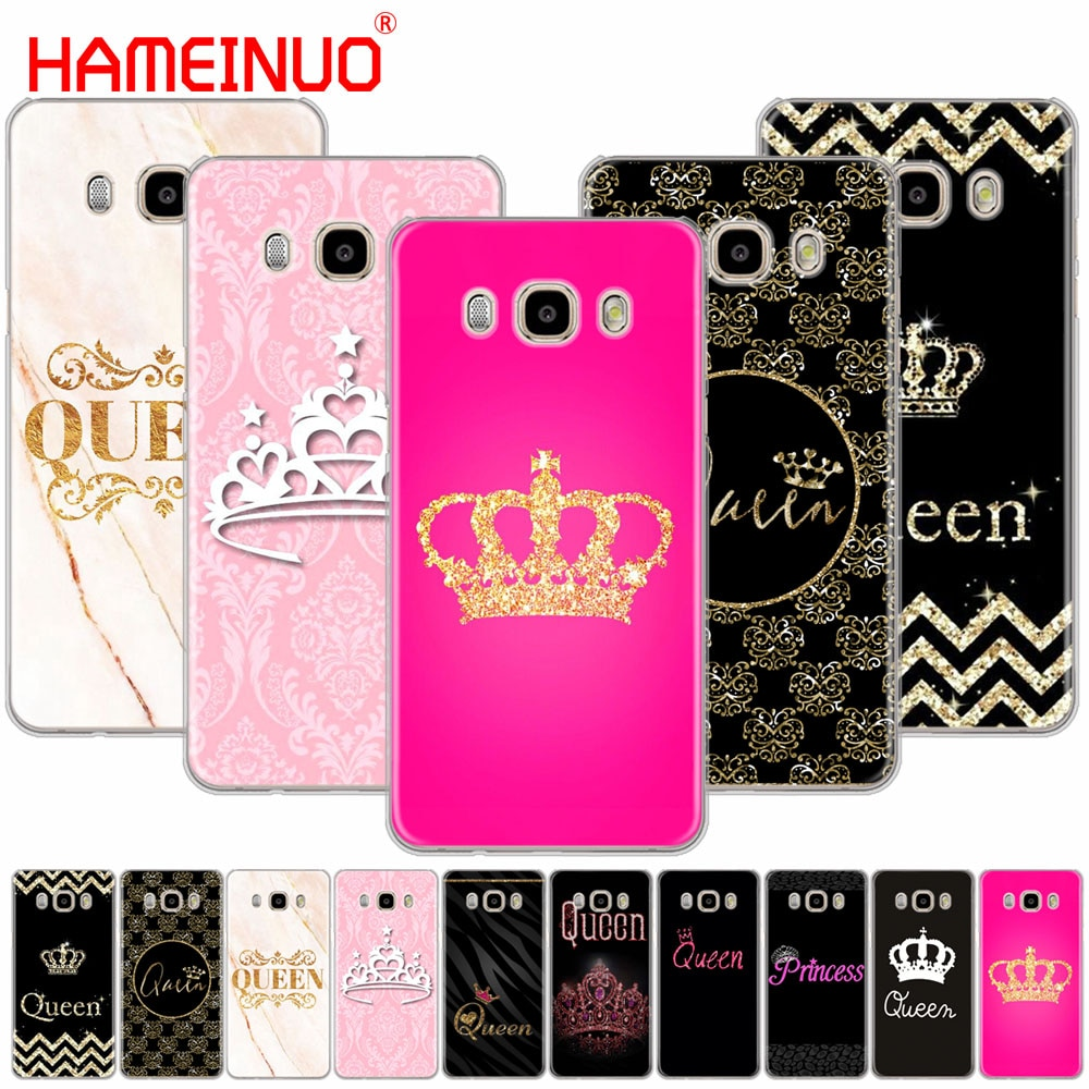 HAMEINUO reina y Rey corona Coque funda de teléfono funda para Samsung Galaxy J1 J2 J3 J5 J7 MINI ACE 2016, 2015
