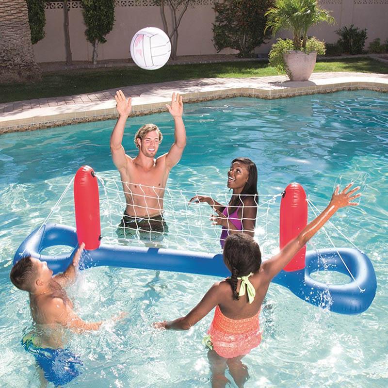 Надувной поплавок для бассейна, игрушки для взрослых, детские, футбольные, волейбольные, баскетбольные игры, круглые, плавательные кольца, в...