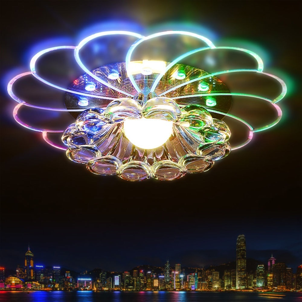 Modern Crystal 5W LED Ceiling Light Fixture Ceiling Lamp Lighting For Living Room Aisle Corridor Kitchen macarons ceiling lamps rose colors metal lamp body acrylic lamp shade colorful post modern ceiling light led lighting fixture