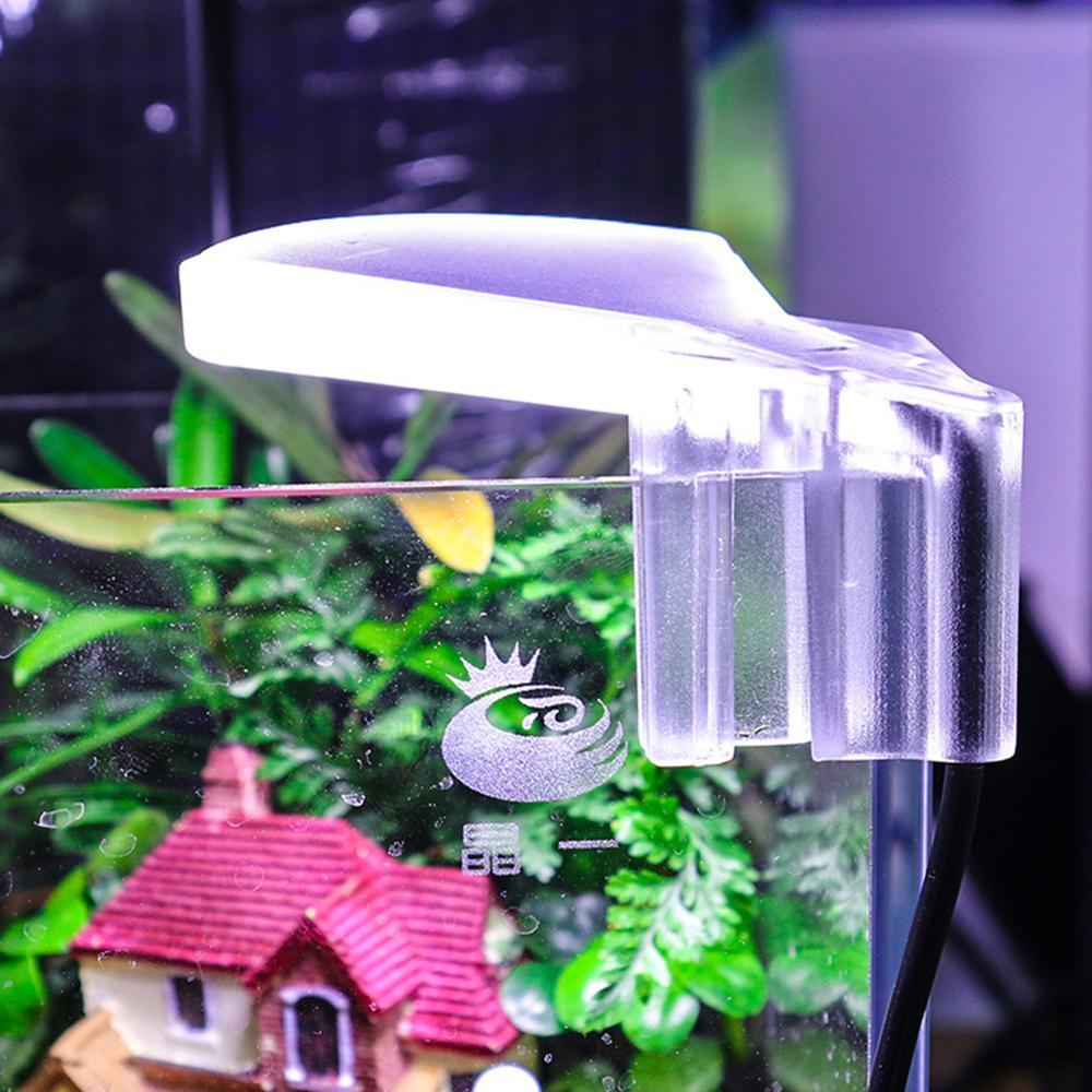 Waterproof Clip-on LED Aquarium Light Fish Tank Aquatic Plants Grow Lamp 5W 8LED  Aquarium Light for Fish Tank